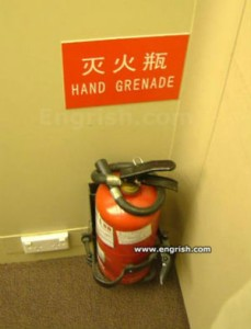 You mean fire extinguisher