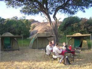 Real tourists budget camping Tanzania